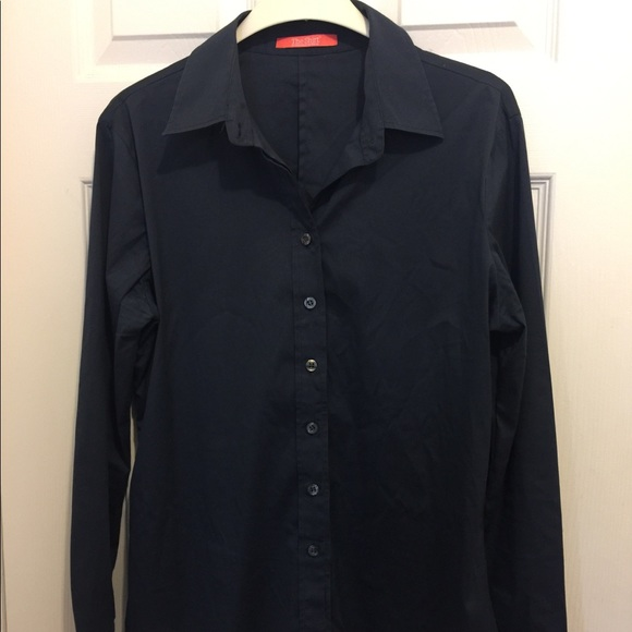The Shirt by Rochelle Behrens Tops - The Shirt is dark blue long sleeve button up